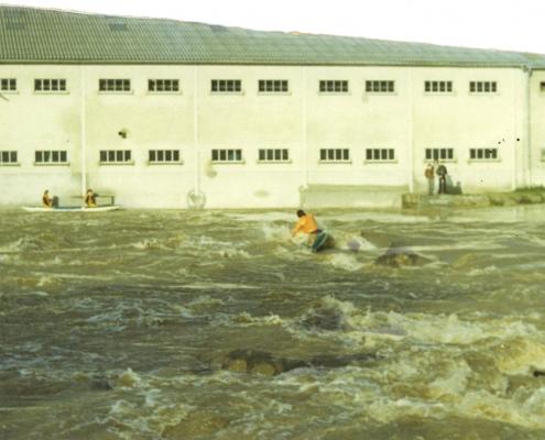 Barrage de Mayenne - crue de 1974