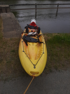 Remontée du kayak