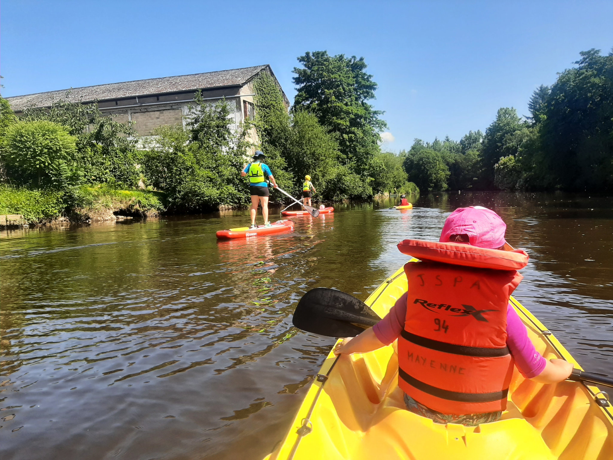 Kayak et stand up paddle sur la Mayenne