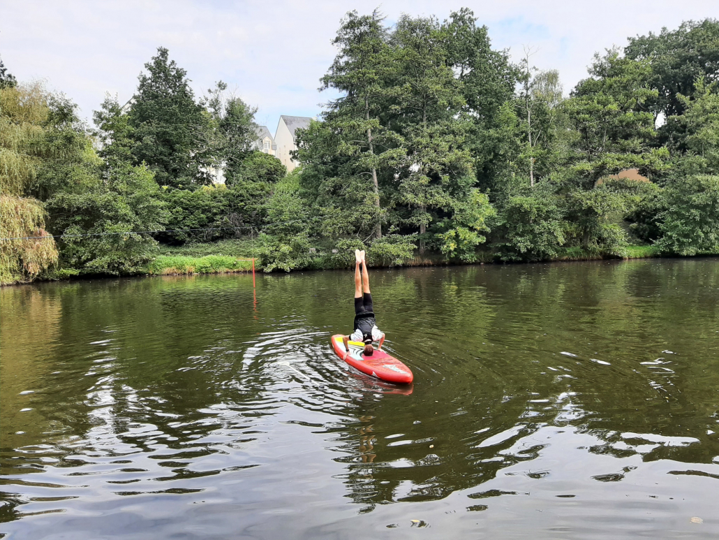 Yoga sur stand up paddle